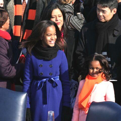 Sasha et Malia Obama ont encouragé leur mère, nouvelle first-lady