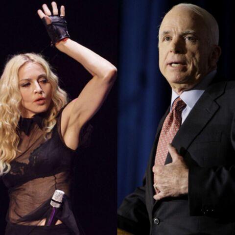 Madonna entre en guerre contre John McCain