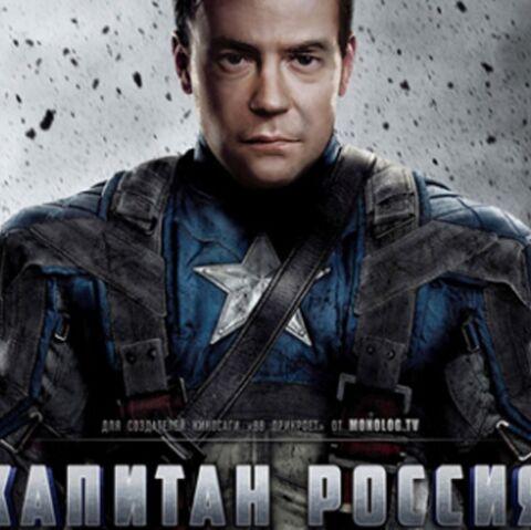 Dmitri Medvedev s'exhibe en Captain America