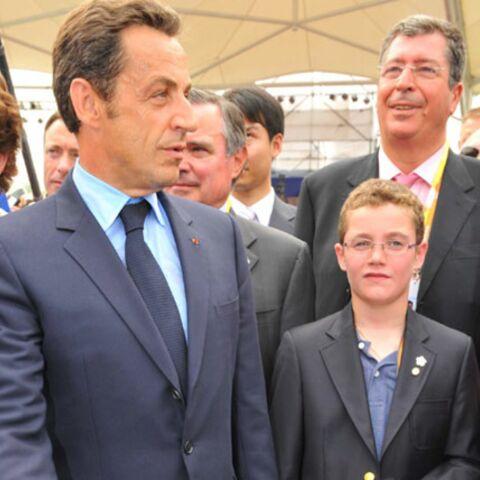 Nicolas Sarkozy aux J.O avec Louis