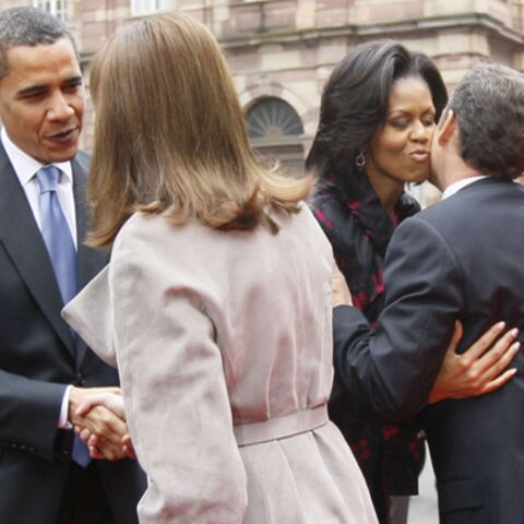 PHOTOS: les Obama et les Sarkozy se découvrent à Strabourg