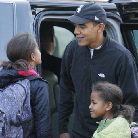 Les filles d'Obama visitent la Maison blanche