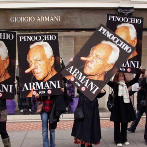 Armani: la Peta l'a dans le nez