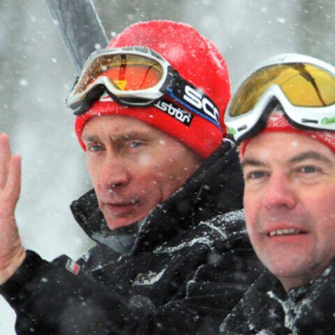 Poutine et Medvedev réunis au ski autour… d'un thé!