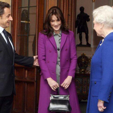 Nicolas et Carla Sarkozy chez la Queen