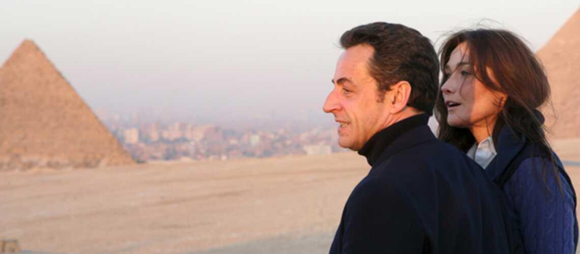 Nicolas Sarkozy et Carla Bruni en voyage au Caire