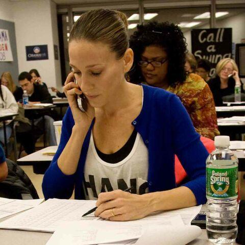 J-5: Sarah Jessica Parker court la dernière ligne droite avec Obama