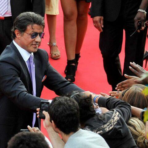 Sylvester Stallone, acclamé à Rosny-sous-Bois