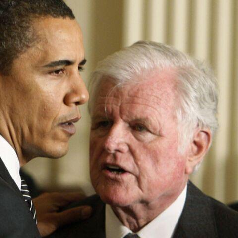 Ted Kennedy et Barack Obama: leur complicité en images