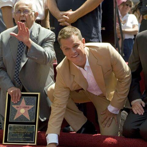 Matt Damon obtient son étoile à Hollywood!