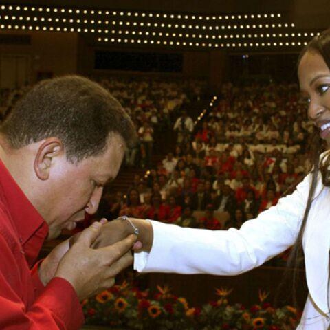Naomi Campbell rend visite à Hugo Chavez