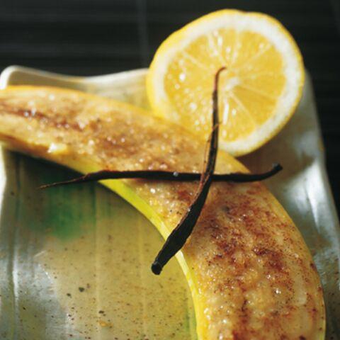 Bananes au citron et à la vanille