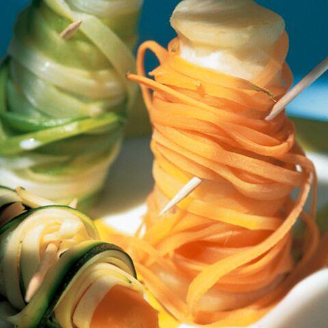 Bobines de fils de légumes