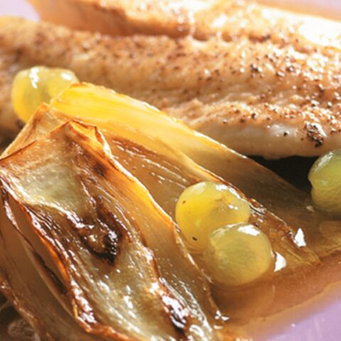 Filets de turbot sauce au raisin