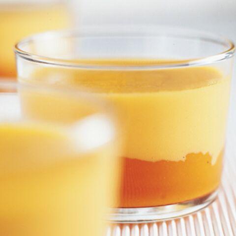 Oeufs brouillés à la crème de carottes