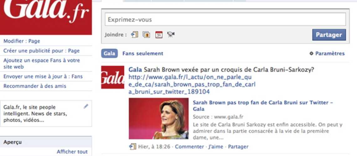 Gala.fr sur Twitter et Facebook