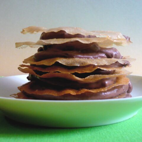 Antoine de Caunes: millefeuille au chocolat