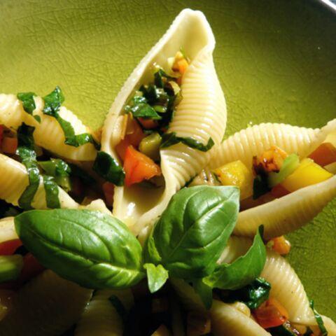 Julien Clerc: conchiglioni aux légumes
