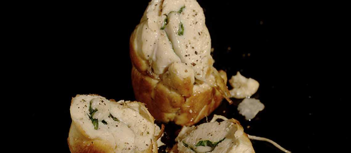 Lindsay Lohan: poulet roulé aux épinards