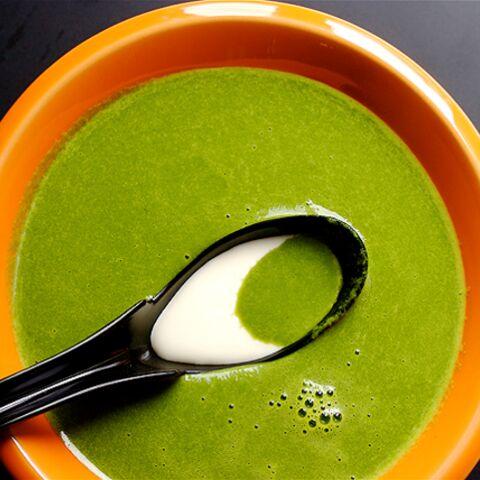 Muriel Robin: soupe de fanes de radis