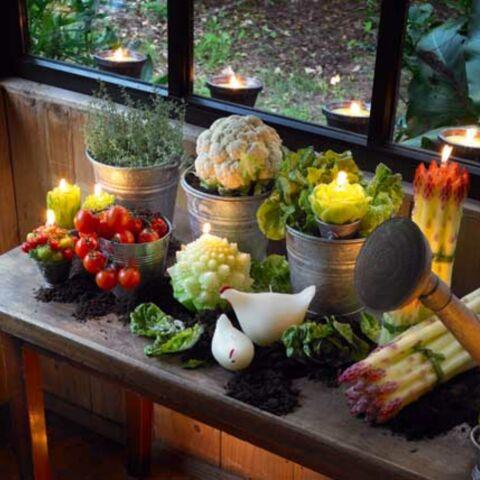 Fruits et légumes dans la maison…