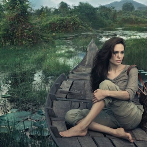 Angelina Jolie embarque au Cambodge pour Vuitton