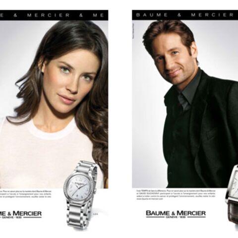 David Duchovny et Evangeline Lilly, un couple Baume & Mercier