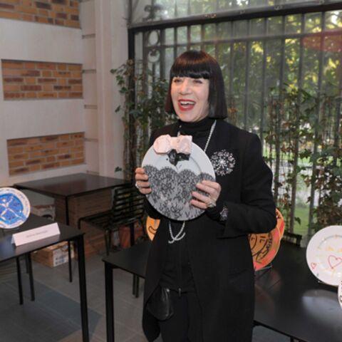 Chantal Thomass en assiette pour Action Contre La Faim