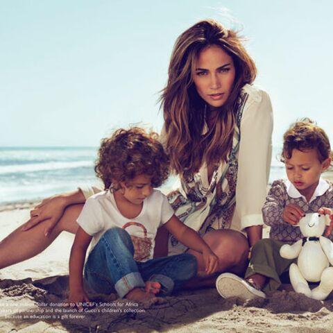 Jennifer Lopez pose avec ses enfants pour Gucci Kids