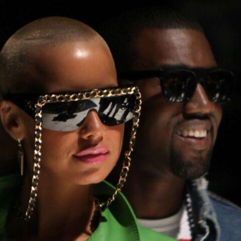 Kanye West et Amber Rose arpentent les défilés parisiens
