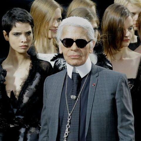 Karl Lagerfeld fait salon pendant l'Eurovision