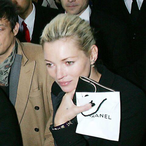 Kate Moss à Paris pour le défilé Chanel