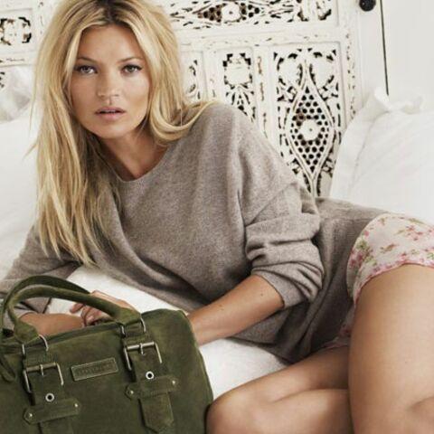 Kate Moss rocks pour Longchamp