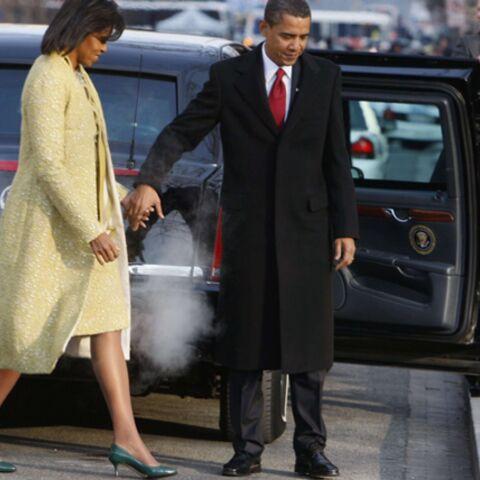 Michelle Obama, une femme en or pour l'investiture de son mari