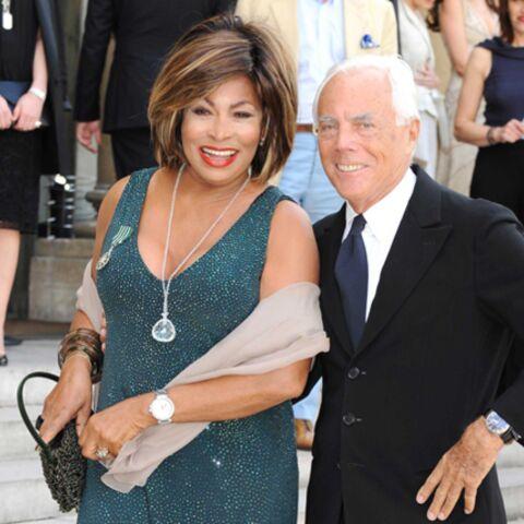 Tina Turner, fidèle à Giorgio Armani