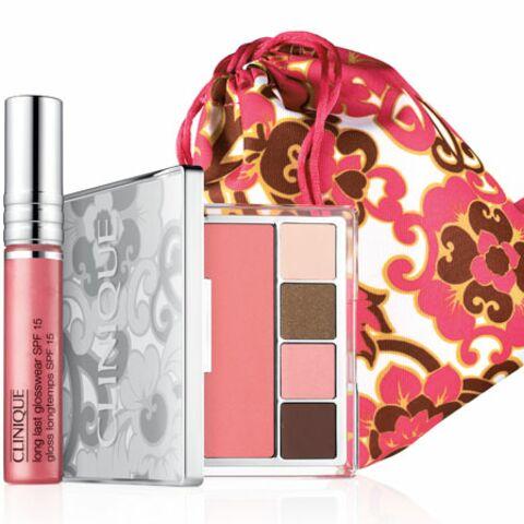Make-up fleuri pour Clinique