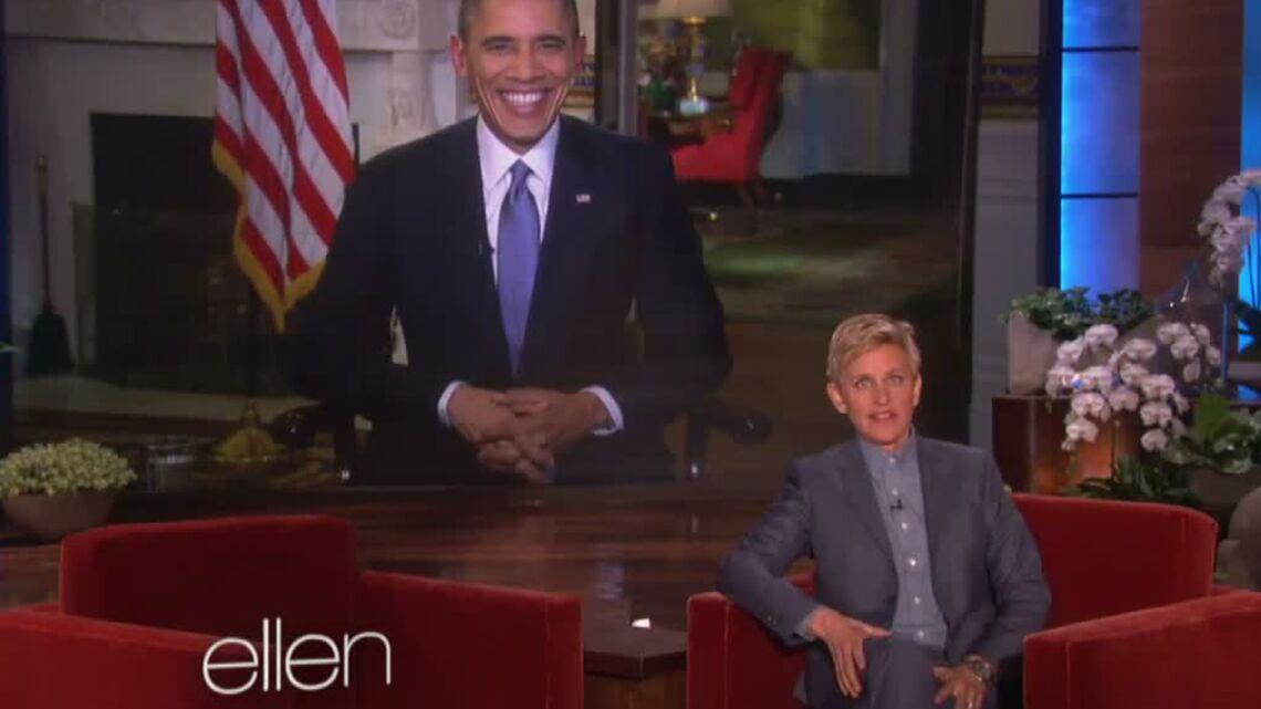 Vidéo- Barack Obama jaloux du selfie d'Ellen DeGeneres