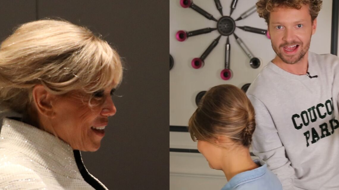 VIDEO – Brigitte Macron, canon avec son chignon à Abu Dhabi, découvrez comment se coiffer comme elle