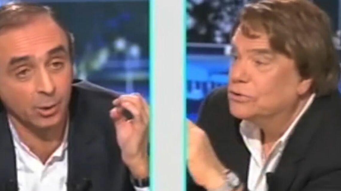 """VIDEO – Bernard Tapie à Eric Zemmour: """"Fais attention, je vais me lever et t'en mettre une! """""""