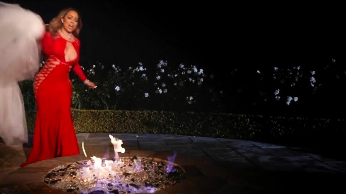 VIDEO – Par vengeance, Mariah Carey: elle brûle sa robe de mariée à 250 000 dollars