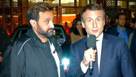 VIDEO – Cyril Hanouna et Emmanuel Macron, l improbable rencontre pour la  1000e de 5144ee5b24a