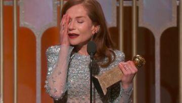 "VIDEO – Isabelle Huppert remporte le Golden Globe de la meilleure actrice dramatique pour ""Elle"""
