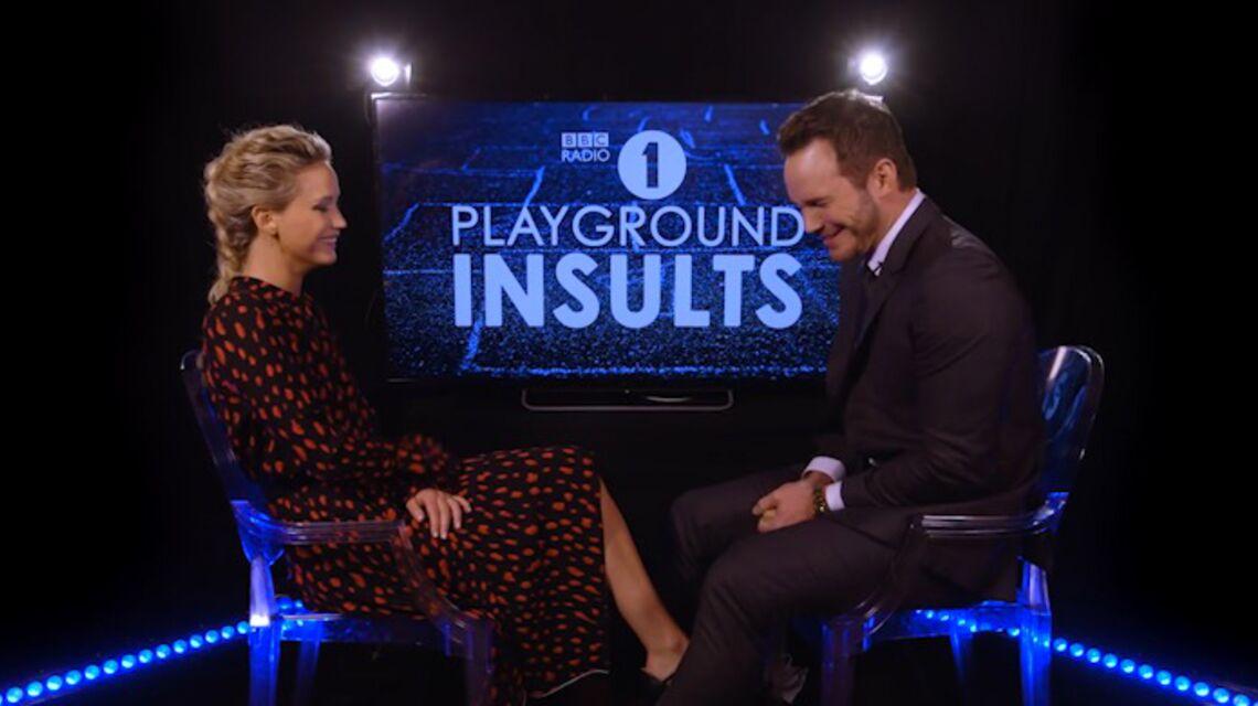 VIDEO – Jennifer Lawrence et Chris Pratt s'insultent à la radio