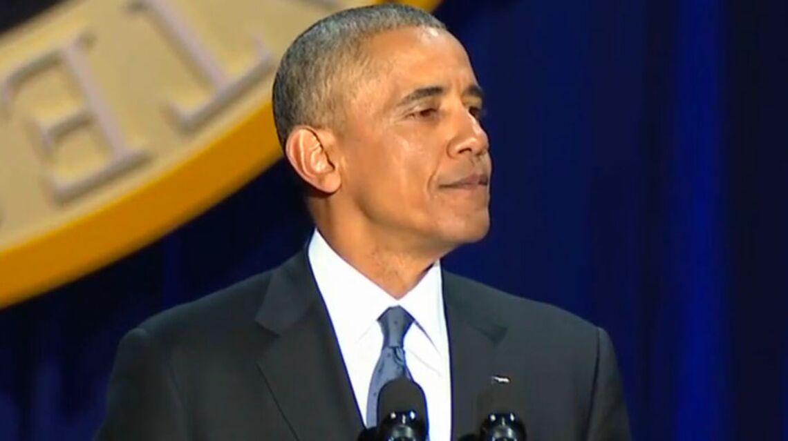 VIDEO – Barack Obama en larmes pour son discours d'adieu, il rend hommage à son épouse Michelle