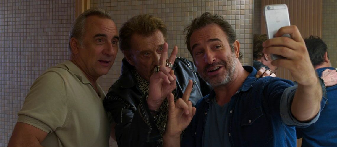 Video johnny hallyday jean dujardin kendji girac l for Nouveau film dujardin