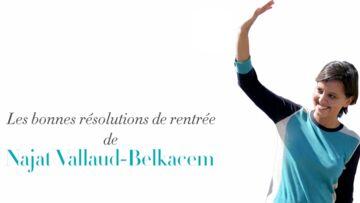 VIDEO GALA – Najat Vallaud-Belkacem promet de «jouer plus au foot» avec ses jumeaux