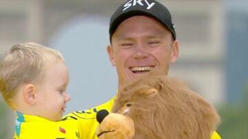 VIDEO – Tour de France: les larmes des familles de Warren Barguil et Chris Froome
