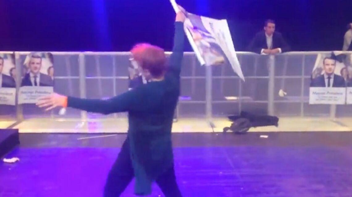 VIDEO – Au QG d'Emmanuel Macron, une militante laisse éclater sa joie sur la piste de danse et amuse le web