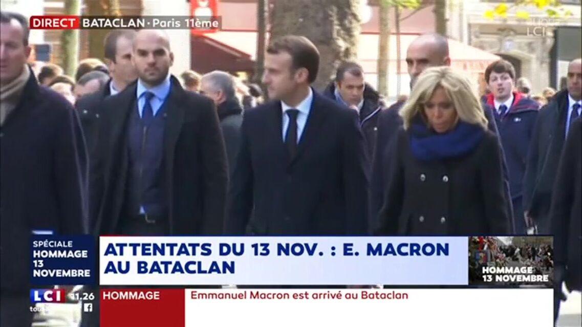 VIDEO – Brigitte Macron en larmes aux côtés de son mari lors de l'hommage aux victimes du Bataclan