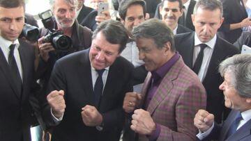 Sylvester Stallone et Christian Estrosi vernis